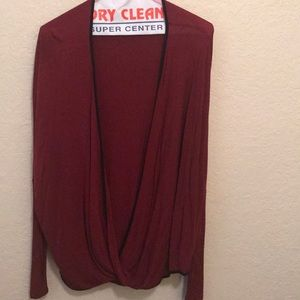 Burgundy wrap top!  Worn 2-3 times. Like new!